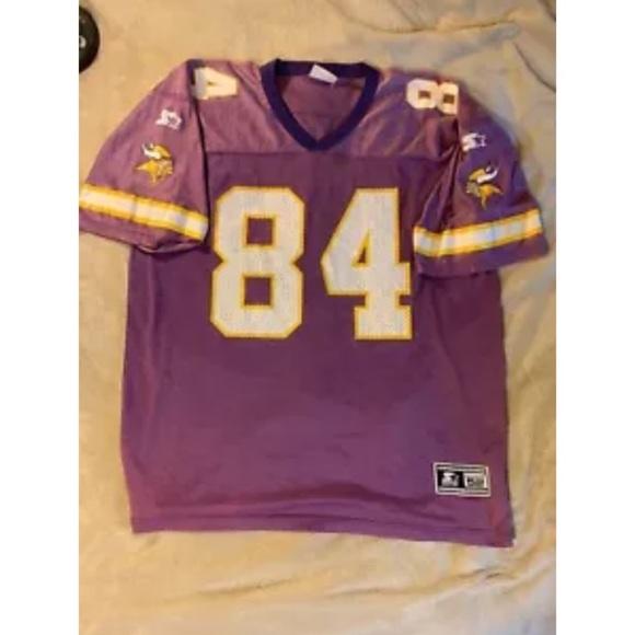 the best attitude ee86a 0c42b Vintage Starter Vikings #84 Football Jersey SZ XL